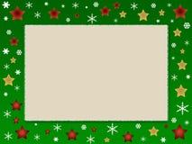 Marco de la foto de la Navidad Imágenes de archivo libres de regalías