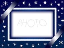 Marco de la foto de la Navidad Fotos de archivo