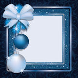 Marco de la foto de la Navidad scrapbooking Imagen de archivo libre de regalías
