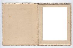 marco de la foto de la tarjeta de los años 20 Foto de archivo