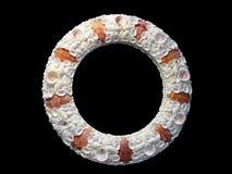 Marco de la foto de los Seashells Fotografía de archivo libre de regalías