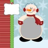 Marco de la foto de Navidad stock de ilustración