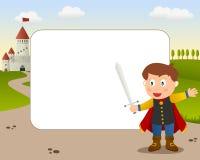 Marco de la foto de príncipe el encantar ilustración del vector