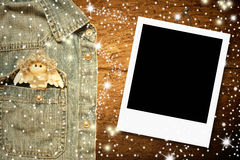 Marco de la foto del ángel de la Navidad Fotos de archivo libres de regalías