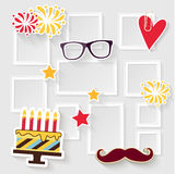 Marco de la foto del cumpleaños Imagen de archivo libre de regalías