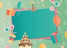 Marco de la foto del feliz cumpleaños Foto de archivo libre de regalías
