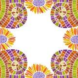 Marco de la foto del mosaico aislado Foto de archivo libre de regalías