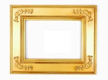 Marco de la foto del oro Fotografía de archivo libre de regalías