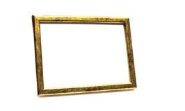 Marco de la foto del oro Fotografía de archivo