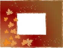 Marco de la foto del otoño Fotografía de archivo