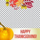 Marco de la foto del vector para la acción de gracias medios del social de la plantilla del otoño Foto de archivo