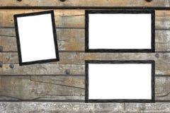 Marco de la foto del vintage en el fondo de madera ilustración del vector