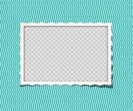 Marco de la foto del vintage del vector en álbum Apenas ponga su imagen en capa más baja separada stock de ilustración
