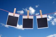 Marco de la foto el cielo azul. Fotos de archivo libres de regalías