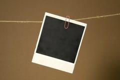 Marco de la foto en la cuerda Foto de archivo