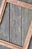 Marco de la foto en los tableros de madera Imagen de archivo