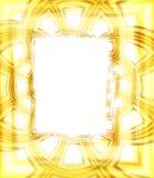 Marco de la foto en oro stock de ilustración