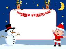 Marco de la foto - la Navidad [2] Fotografía de archivo libre de regalías