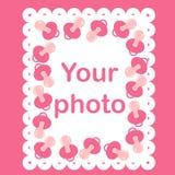 Marco de la foto para el bebé con las entrerroscas Fotografía de archivo libre de regalías