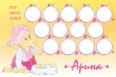 marco de la foto para un child' cumpleaños de s doce imagen de archivo libre de regalías