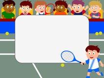 Marco de la foto - tenis Imagen de archivo libre de regalías