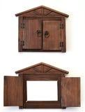 Marco de la foto - ventana de madera en casa Imágenes de archivo libres de regalías