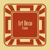 Marco de la frontera de Art Deco ilustración del vector