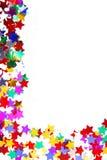 Marco de la frontera del confeti aislado Fotografía de archivo libre de regalías
