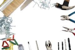 Marco de la frontera de las herramientas de la construcción imagen de archivo libre de regalías