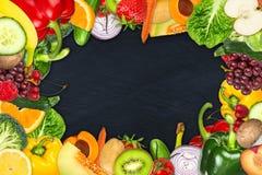 Marco de la fruta y verdura Fotografía de archivo libre de regalías