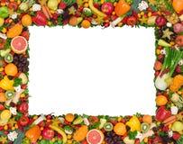 Marco de la fruta y verdura Foto de archivo libre de regalías