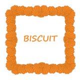 Marco de la galleta de la mantequilla Imagen de archivo libre de regalías