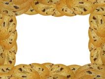 Marco de la galleta de viruta de chocolate Foto de archivo libre de regalías