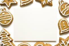 Marco de la galleta del pan de jengibre Fotografía de archivo