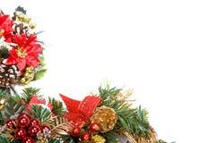 Marco de la guirnalda de la Navidad Fotografía de archivo
