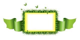 Marco de la hierba Fotografía de archivo