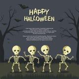 Marco de la historieta de Halloween con diseño divertido y espeluznante libre illustration