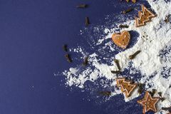 marco de la hornada de la galleta de la Navidad del pan de jengibre Fotos de archivo libres de regalías