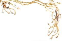 Marco de la joyería del oro Fotografía de archivo