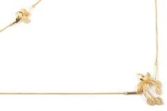 Marco de la joyería del oro amarillo Fotografía de archivo