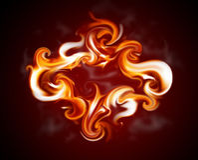 Marco de la llama ilustración del vector