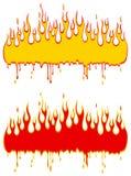 Marco de la llama Fotografía de archivo
