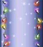 Marco de la luz de la Navidad Fotos de archivo libres de regalías