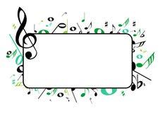 Marco de la música Fotografía de archivo libre de regalías