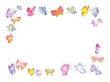 Marco de la mariposa Imágenes de archivo libres de regalías