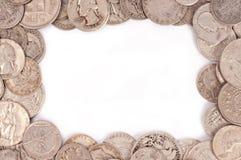 Marco de la moneda Imagenes de archivo