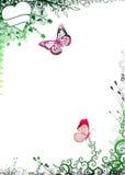 Marco de la naturaleza con las mariposas Foto de archivo