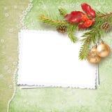 Marco de la Navidad Fotografía de archivo libre de regalías