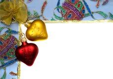 Marco de la Navidad con el fondo blanco fotos de archivo libres de regalías