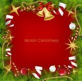 Marco de la Navidad con Holly Decoration. Vector Imagen de archivo